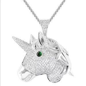Ice Out Unicorn Pendant